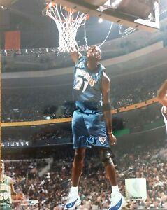 Kevin Garnett Slam Dunk 8x10 Action Photo Minnesota Timberwolves