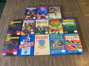 Nintendo, NES Game Lot in Box - Crystalis + Tetris + Ice Hockey + Dragon Warrior