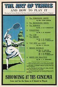 Original-Art-Deco-Poster-L-039-art-de-tennis-Wimbledon-Sports-1920