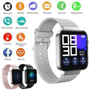 Damen Smartwatch Fitness Tracker Armband Wasserdicht Sport Uhr Telefonuhr DHL