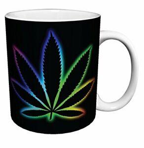 Pot-Leaf-Weed-Marijuana-Novelty-Drug-Smoking-Humor-Porcelain-Coffee-11-Oz-Mug