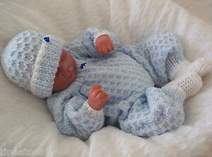Dk Knitting Pattern 13 To Knit Newborn Baby Or Reborn Romper Suit