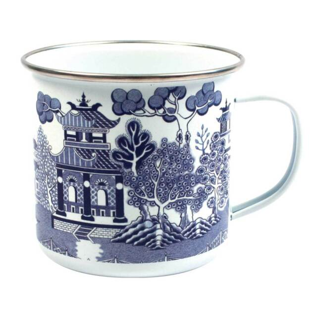 Blue Willow Enamel Mug by Gift Republic