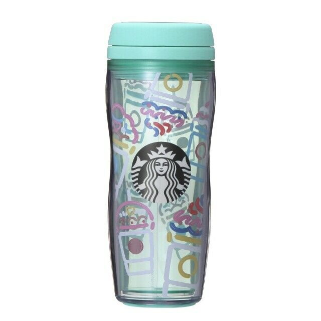 Starbucks JAPAN Tumbler Bottle Frappuccino Blue Transparent clear 355 ml 2019