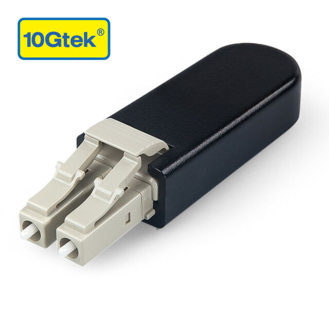 LC/UPC Fiber Optic Loopback Adapter, LC Connector, Multimode, 50/125