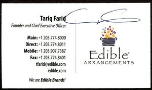 Hand signed business card of the ceo of edible arrangements ebay image is loading hand signed business card of the ceo of colourmoves