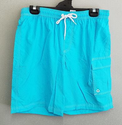 BNWT Mens Sz XL Bauhaus Brand Purple Print Elastic Waist Swim Shorts RRP $50
