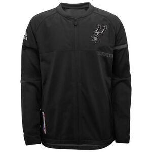 fd7213108 Men s San Anotonio Spurs Adidas On Court Full Zip Warm-Up Jacket XL ...