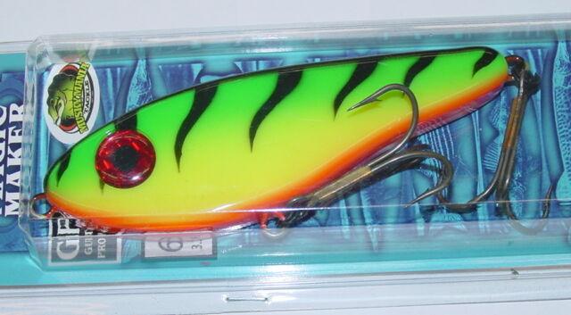 "6 3/4"" Magic Maker Musky Mania Pike Firetiger Glide Bait Lure MM-12"