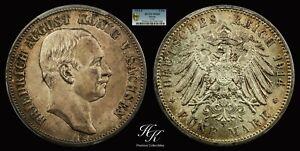 1914 E 5 Mark Friedrich August Konig PCGS MS65 TOP RARITY