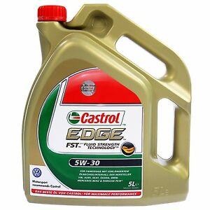 5 l liter castrol edge fst 5w 30 motor l vw audi seat. Black Bedroom Furniture Sets. Home Design Ideas