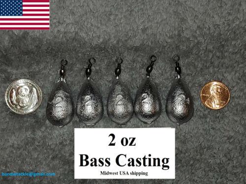 25 Bass Casting Fishing 2 oz Sinkers black swivel Bell Sinker Free shipping