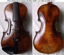 BEAUTIFUL RARE OLD DA SALO VIOLIN ANTIQUE - see VIDEO - バイオリン скрипка 小提琴 594