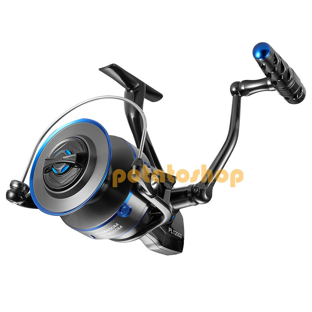 Heavy Duty Spinning Carretes De Acero Inoxidable 7+1BB Impermeable Agua Salada Caballa GT