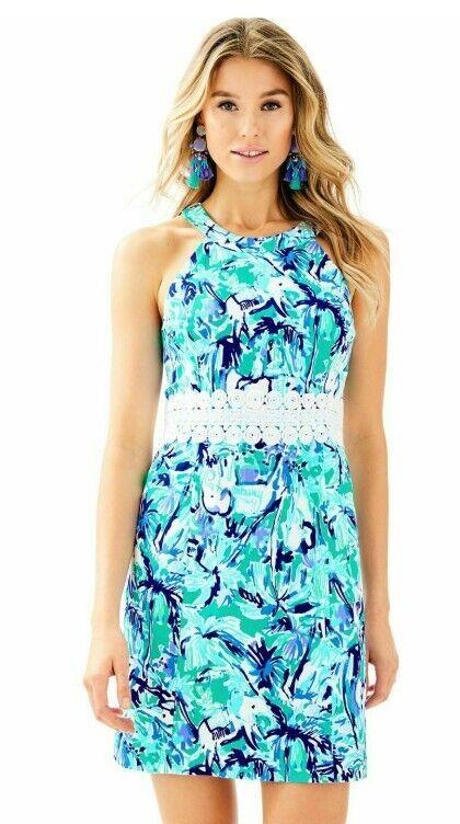Lilly Pulitzer Ashlyn Vestido Shift-tropical Turquesa Elefante  apelación-tamaño 2  ventas en linea