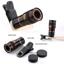 US HOT Clip-on 8X Zoom Optical Camera Telescope Lens For iPhone 7 6 6S Plus 5 5S