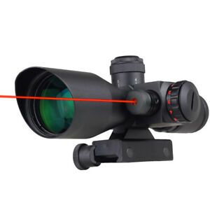 Professional-2-5-10X-40mm-Dot-Reticle-Red-Laser-Sight-Rifle-Scope-w-Mount-New
