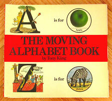 THE MOVING ALPHABET BOOK Tony King 250 images w/turning wheels VGC L1
