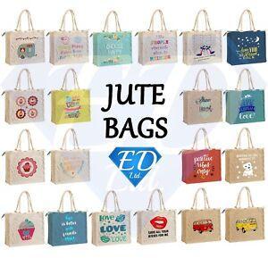 Jute-Shopping-Bag-Hessian-Large-amp-Small-Eco-Reusable-Gift-Tote-Lunch-Handbag