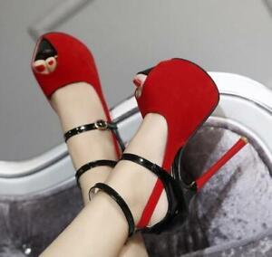 Womens-Open-Toe-Ankle-Strap-Buckle-Sandals-Stilettos-Platform-High-Heels-Shoes
