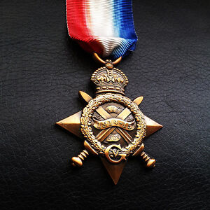 1914-15-Star-Mons-Star-WW1-Medal-For-British-and-Imperial-Forces-NEW-Repro