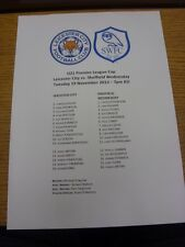 19/11/2013 Leicester City U21 v Sheffield Wednesday U21 [U21 Premier League Cup]