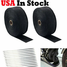 Thermal Zero WHITE High Temperature Header Exhaust Pipe Insulation Wrap Kit 1 Roll White 1//8 X 2 X 50 with a Stainless Ties Kit