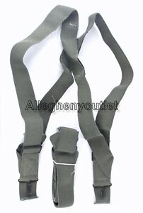 QTY (1) NEW USGI MILITARY M1950 Foliage Trouser PANT SUSPENDERS Elastic Harness