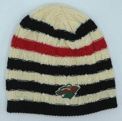 Sporting Goods Memorabilia Nhl Minnesota Wild Reebok Women's Cuffless Knit Hat Cap Beanie Style #km59w New Skillful Manufacture