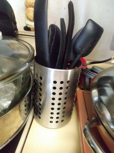 Ikea Ordning 18cm Stainless Steel Cutlery Holder Kitchen Utensil Pot