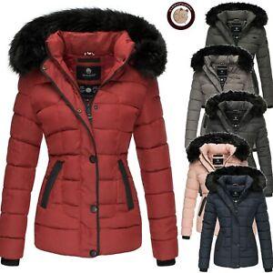 low priced f4339 13bd8 Details zu Marikoo Unique Damen Jacke Winter Stepp Jacke Parka Trend Jacke  Fell Kragen Warm