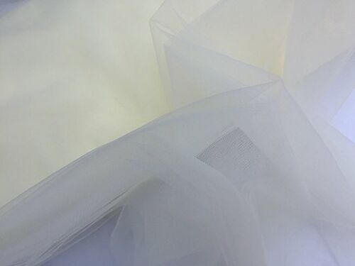 """Ivory //Cream Very Fine Bridal Veiling Tulle  *220 cm wide """" Fabric Sold By Meter"""