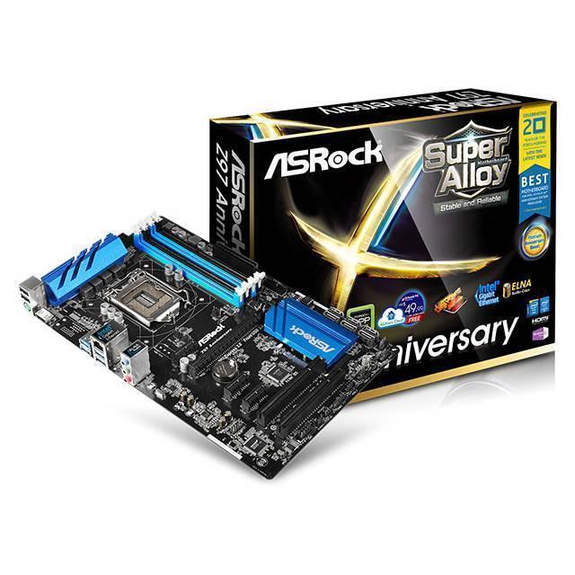 Asrock Z97 Anniversary Lga 1150 Intel Motherboard For Sale Online Ebay