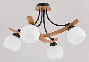 JONA-BLACK-Wooden-Ceiling-Lamp-Chandelier-Modern-Light-Glass-Shade-Wood
