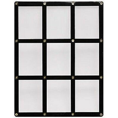 Ultra Pro 4-Screw 9-Card Black Border Screwdown Card Holder Recessed Ultra Clear