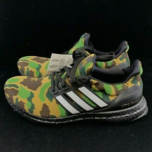 8c08bdef9f4b2 Adidas Bape Ultra Boost 4.0 Shoe Camo Size 9 Green Army Authentic ...