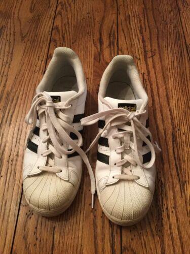 zapatos negro Talla con Superstar para 6 Adidas mujeres Blanco cordones casuales 4Fq5xFv6