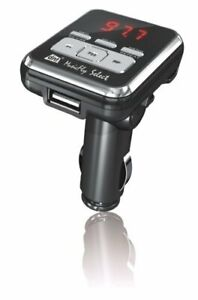 DNT MusicFly Select Auto Radio FM-Transmitter (F-Scan, SD-Karte USB 2.0) schwarz