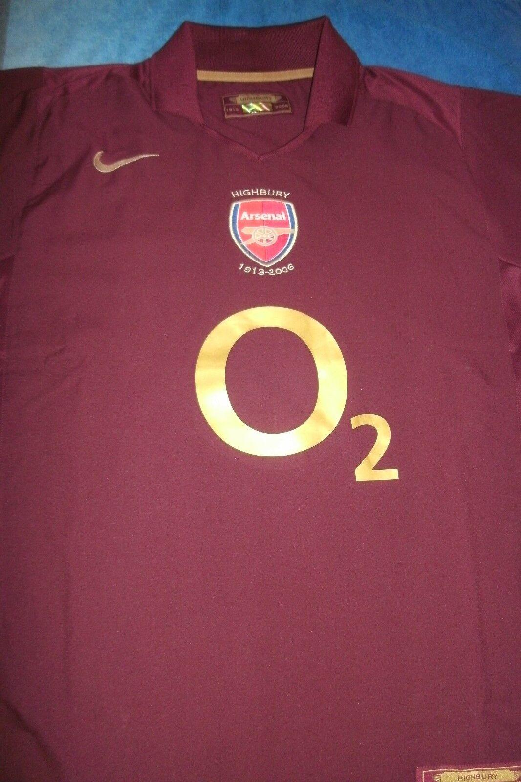 Arsenal Edición Limitada Highbury 1913-2006 S S Camiseta de fútbol. Talla L. Freepost