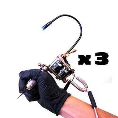 Tattoo Machine Light Flexible White LED Light Adjustable Gun 3 pcs