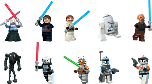 Packung Stil A Lego Star Wars Charakter Ausschnitte X 10 Wandkunst