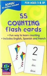55-COUNTING-FLASH-CARDS-w-STICKERS-EDUCATION-LEARNING