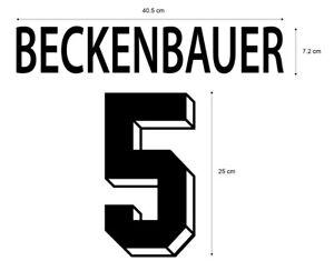 Flocage BECKENBAUER Allemagne - maillot  Patch Football Deutschland