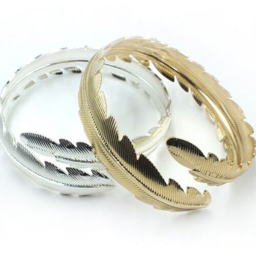 Womens Swirl Leaf Design Upper Arm Cuff Bangle Dancer Goth Punk Bracelet Jewelry