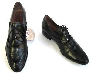 PACO-VALIENTE-Chaussures-derbies-lacts-tout-cuir-noir-39-TRES-BON-ETAT