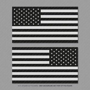 777716fd572 2 x Subdued American Flag Sticker Die Cut Decal USA LH RH 150mm x ...