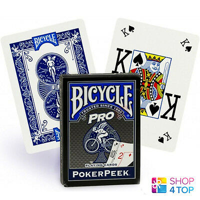 BICYCLE PRO POKER PEEK INDEX PLAYING CARDS DECK MAGIC TRICKS BLUE MADE IN USA