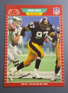 AARON-JONES-1989-PRO-SET-FOOTBALL-CARD-350-B9432