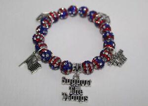 Patriotic-July-4th-American-Flag-Military-Charm-Bracelet-July-4th