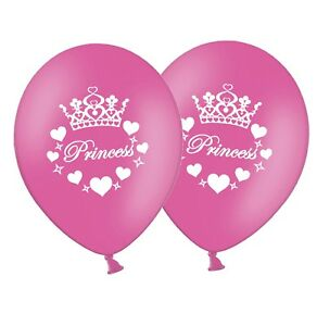 Princess-12-034-Printed-Hot-Pink-Latex-Balloons-pack-of-8-by-Party-Decor